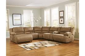 Ashley furniture sectional couches Victory Hogan 6piece Reclining Sectional With Chaise Large Ashley Furniture Homestore Hogan 6piece Reclining Sectional With Chaise Ashley Furniture
