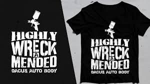 Auto Tshirt Design Bold Modern Automotive T Shirt Design For Dacus Auto Body