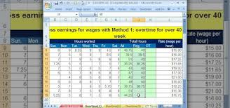Overtime Calculation In Excel Format How To Calculate Gross And Overtime Pay In Microsoft Excel