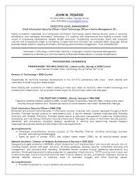 Sample Information Security Resume Free Resume Example And