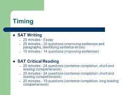 sat writing and critical reading timing sat writing minutes sat writing and critical reading 2 timing