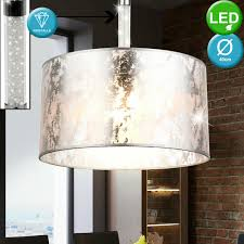 Design Led Ceiling Hanging Lighting Living Room Fabric Pendant Lamp Crystals