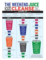 Juice Cure Chart Joe Cross 3 Day Weekend Juice Cleanse The Dr Oz Show