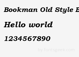 bookman old style bold italic
