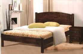 Beds, Bed Frames Queen Wood Solid Wood Queen Bed Frame Dark Wood Queen  Platform Bed ...