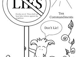 10 Commandments Coloring Page Free Printable Ten Commandments
