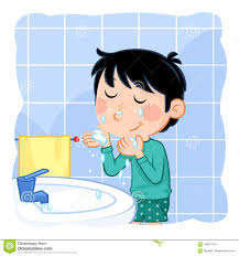 washing face clipart. Contemporary Face Download Daily Routine Actions  Washing Face Stock Illustration  Of Funny Shower Intended Clipart O