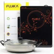 Bếp Điện Từ Đơn 2000W FUJIKA Kèm Nồi Lẩu Inox Nhiều Chức Năng Nấu Tiết Kiệm  Điện Năng-Hàng Chính Hãng - Bếp điện từ đơn