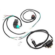 amazon com jcmoto wire harness wiring loom cdi ignition coil spark Harley-Davidson Ignition Switch Wiring at Spark Plug Wire Harness