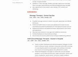 Massage Therapist Resume Massage Therapy Resume Template Cancercells 96
