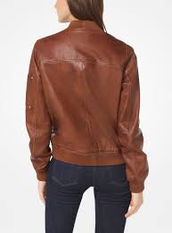 washed leather er jacket