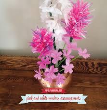 Paper Flower Arrangements Paper Flower Arrangement Folded Petal