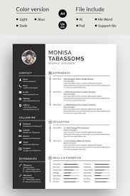 Monisa Tabassoms Modern Resume Template 75822