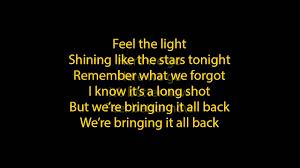 Light In The Darkness Song Jennifer Lopez Feel The Light Lyrics Full Song