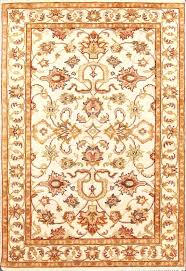 fashionable hand knotted rug vintage traditional white gold hand knotted rug x cm hand knotted wool rugs india
