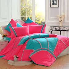 hot pink bed set and blue bedroom turquoise bedding queen home