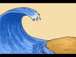 Drawing tsunami graphy illustration, hand painted illustration tsunami, watercolor painting, blue, hand drawn png. How To Draw A Wave For Kids Youtube