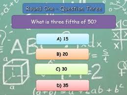 mathematics educational end of term quiz