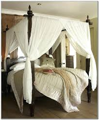 Attractive Canopy Curtains For Four Poster Bed Designs With 4 Regard ...