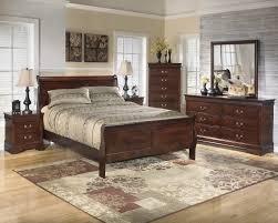 Sleigh Bed Bedroom Set Alisdair 5 Piece Traditional Style Dark Brown Finish Queen Bed