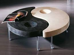 unique yin and yang coffee tables