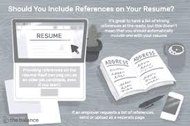 What Should Not Be Included In A Resume How To List References On A Resume