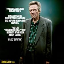 Christopher Walken Famous Quotes. QuotesGram via Relatably.com