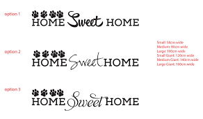 home sweet home paw print dog cat pet sticker decal wall decor removable