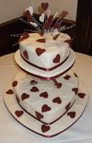 Heart Shaped Wedding Cake Three Tier Heart Shaped Wedding Cake