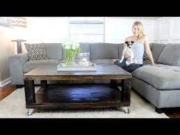rustic coffee table easy diy project