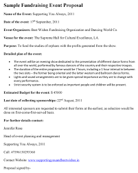 Event Synopsis Template Fundraising Event Proposal Template