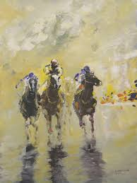 tom lund lack artwork runners in the 1430 original painting acrylic equine art