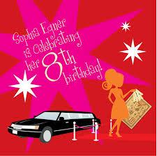8th Birthday Party Invitations Loveleigh Invitations Llc Sophias 8th Birthday Party Invitation