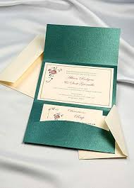 Wedding Invitation Folder Amazon Com Horizon Pocket Folder Invitation Kit Emerald