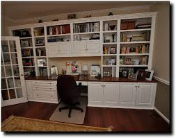 wall units best office cabinets home with built in desk and shelves idea 8