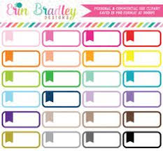 rounded flag labels clipart