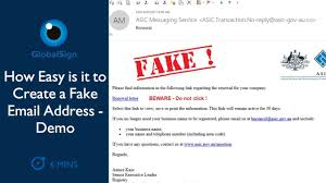 - Easy Address Create Email A To How Demo Is Fake Youtube It