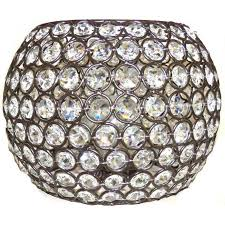 portfolio ladura 6 in h 8 625 in w bronze crystal globe pendant light shade