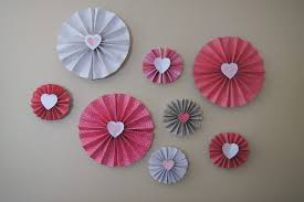 fun rooms cute diy love heart paper wall decorations for valentine day moment ideas creative
