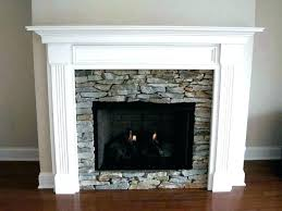rock fireplace mantel faux surrounds river