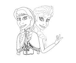 Disney Princess Coloring Pages Frozen Elsa And Anna Queen Page
