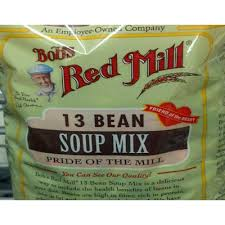 Green Mill Nutrition Chart Calories In 13 Bean Soup Mix From Bobs Red Mill