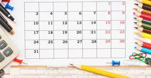 Resultado de imagen de school year calendar