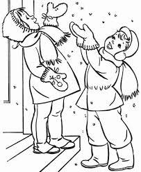 Bambini Felici Sotto La Neve Disegni Da Colorare Inverno Disegni