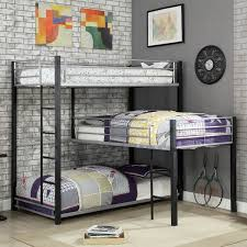 dragon shaped bed frame. Unique Shaped Shop Furniture Of America Nathan Contemporary Triple Decker LShaped Bunk  Bed  Free Shipping Today Overstockcom 21257670 In Dragon Shaped Frame