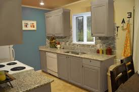 Hanging Kitchen Cabinets Stained Kitchen Cabinets Mosaic Backsplashes With Hardwood Floor