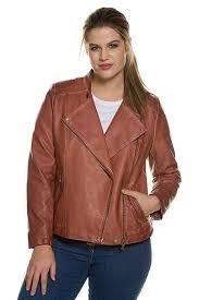 ulla popken women s plus size asymmetric zip up biker jacket 709047 b06xb9ffv3