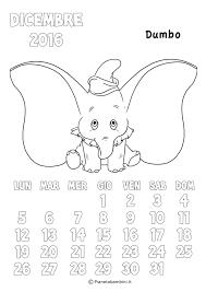 Calendario 2017 Degli Animali Disney Da Colorare Per Bambini