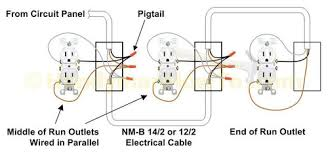 how to connect 2 ground wires 1 outlet if devices are installed in parallel shown below a receptacle can be removed out interrupting the operation of the circuit
