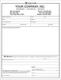 Bid Proposal Templates New Free Contractor Proposal Template Free Contractor Work Proposal